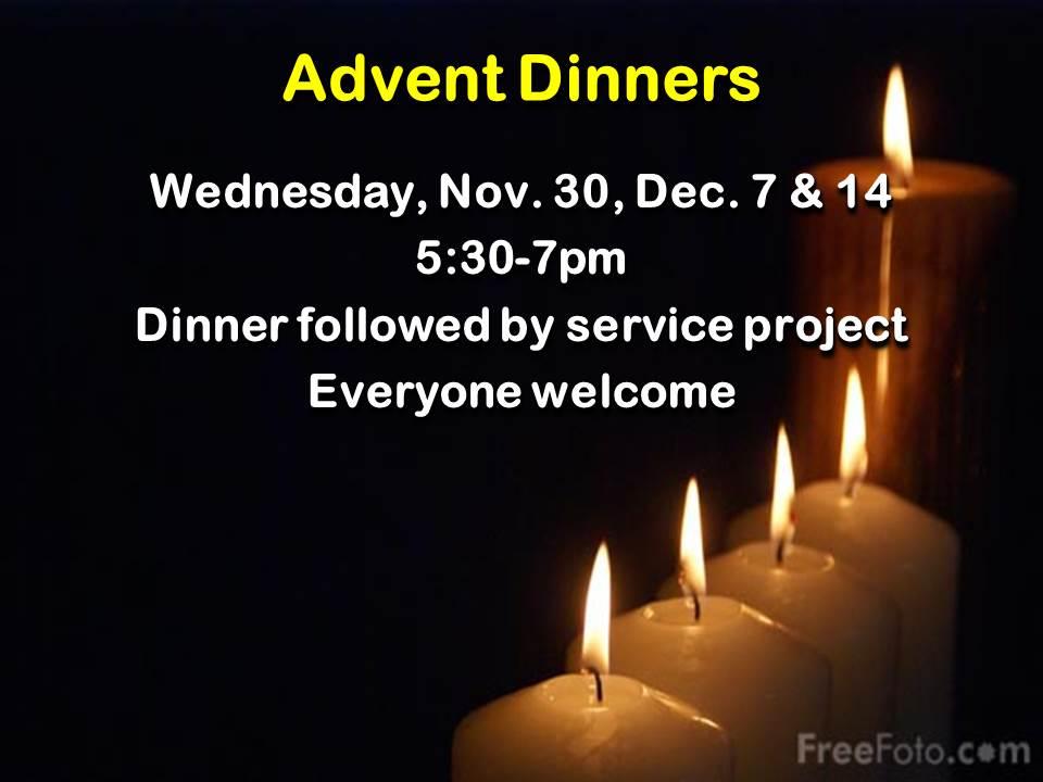 Advent Dinners 2016