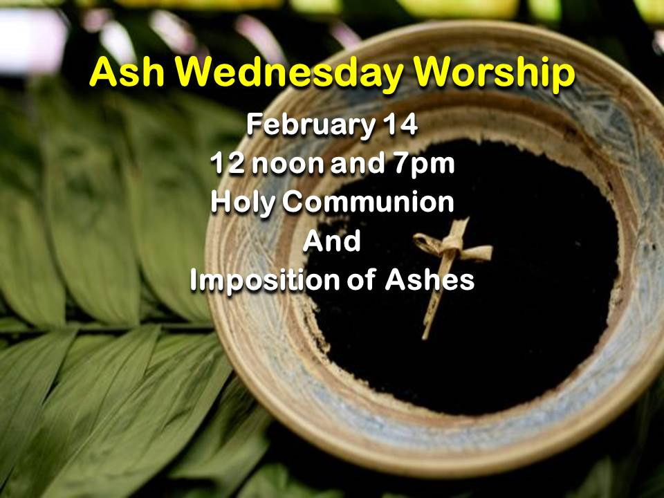 Ash Wednesday Worship 2018