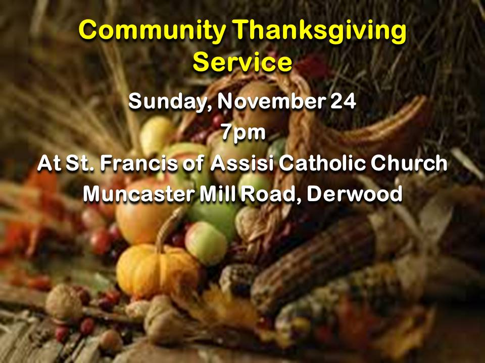 Community Thanksgiving Service 2019