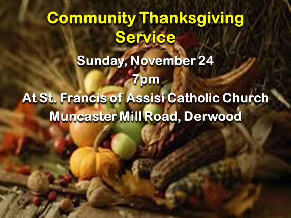 Community Thanksgiving Service 2019