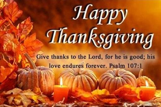 Happy Thanksgiving Ps 107