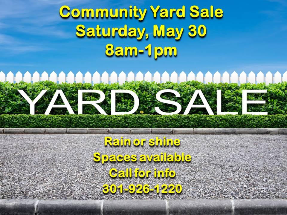 Yard Sale May 30, 2015