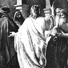 Jesus argues in the temple