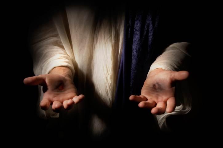 Jesus wounds in hands